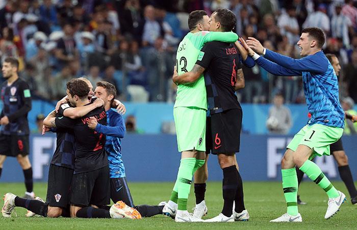 Selección de Croacia. Foto: EFE
