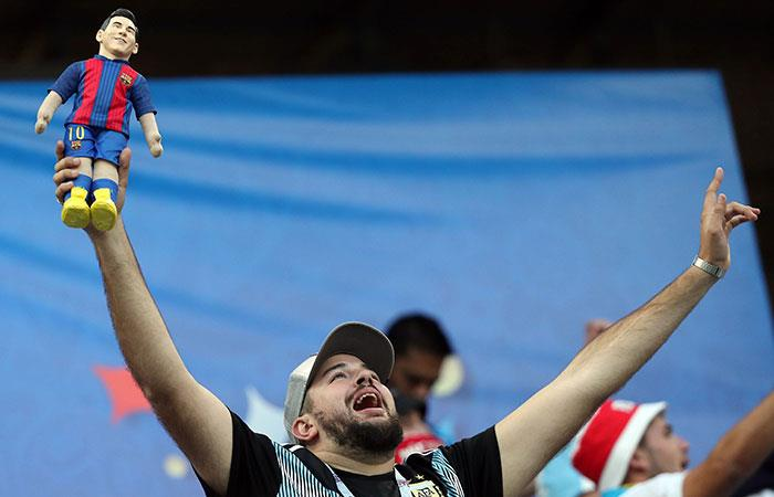 Argentina vs Croacia. Foto: EFE