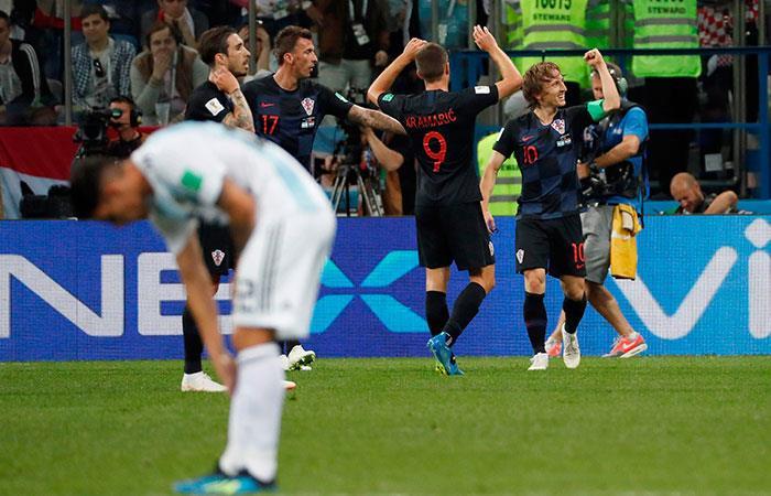 Croacia vs Argentina. Foto: EFE