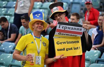 Alemania vs Suecia: mira la fiesta que se vivió en las tribunas