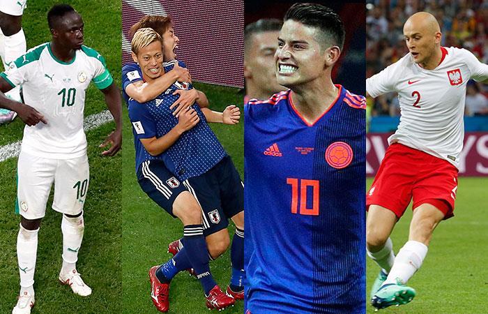 Senegal, Japón, Colombia y Polonia. Foto: EFE
