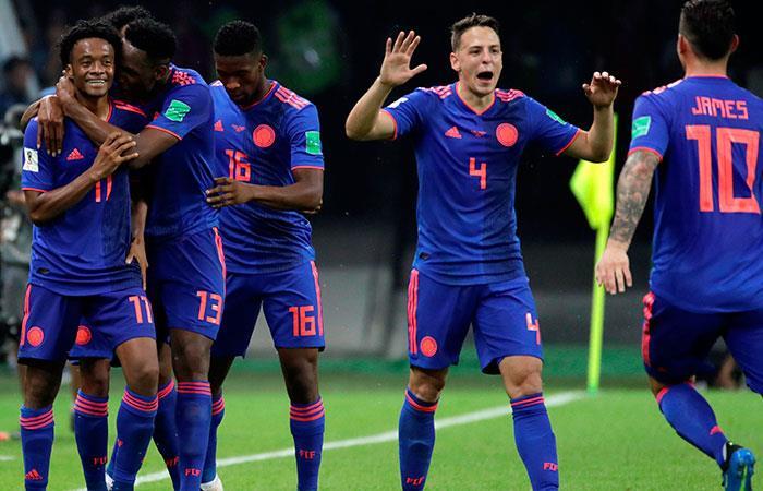 Selección de Colombia. Foto: EFE