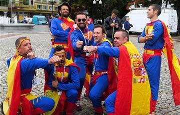 España vs Marruecos: hinchas garantizan la fiesta en el Estadio de Kaliningrado