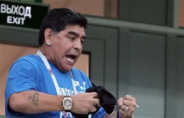 Rusia 2018: Diego Maradona se volvió hincha de México