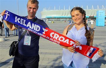 Islandia vs Croacia: Así viven el partido los hinchas desde el Rostov Arena