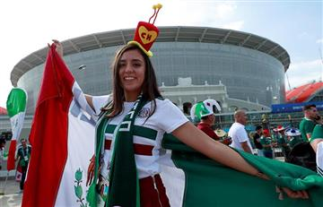 México vs Suecia: hinchas le dan color a las gradas del Ekaterimburgo Arena
