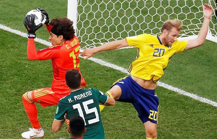 Suecia logró imponerse en el Ekaterimburgo Arena ante México (Foto: EFE)