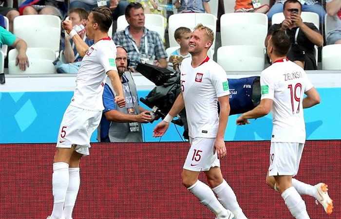 Polonia se despidió del Mundial con victoria sobre Japón. Foto: EFE