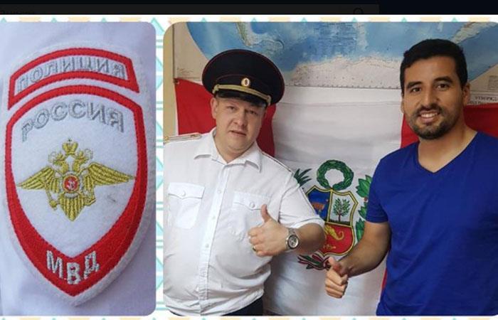 Diego Motta recibe la ayuda de la policía rusa (Foto: Facebook Diego Motta)