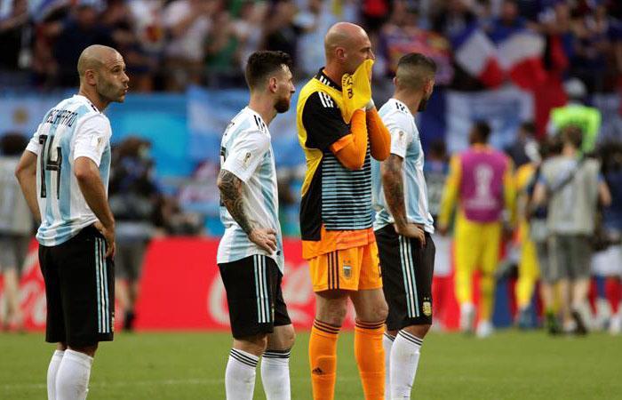 Argentina queda eliminada por segunda vez en octavos bajo este formato. Foto: EFE