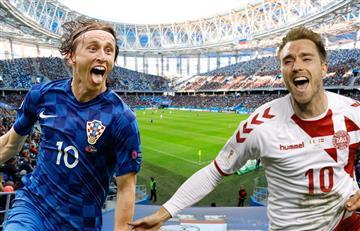 Croacia vs Dinamarca EN VIVO ONLINE por los octavos de final de Rusia 2018