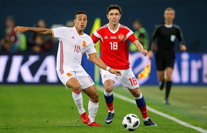 España vs Rusia por el Mundial Rusia 2018. Foto: AFP