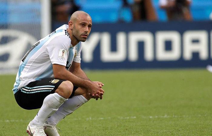 Javier Masherano se despidió de la Selección de Argentina. Foto: EFE
