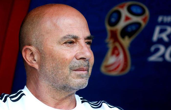 Jorge Sampaoli declaró tras la eliminación de Argentina. Foto: EFE