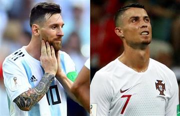 Lionel Messi y Cristiano Ronaldo se despidieron del Mundial Rusia 2018 el mismo día