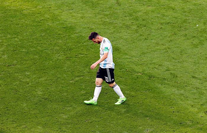 Lionel Messi no ha hecho ningún gol en rondas eliminatorias de los mundiales que jugó. Foto: EFE