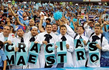 Uruguay vs Portugal: mira las mejores postales de los hinchas en Sochi