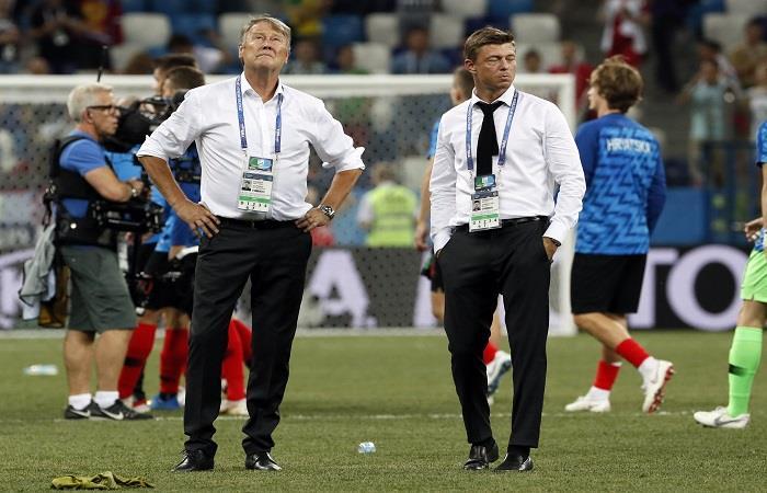 Age Hareide lamentó la eliminación del Mundial. Foto: EFE