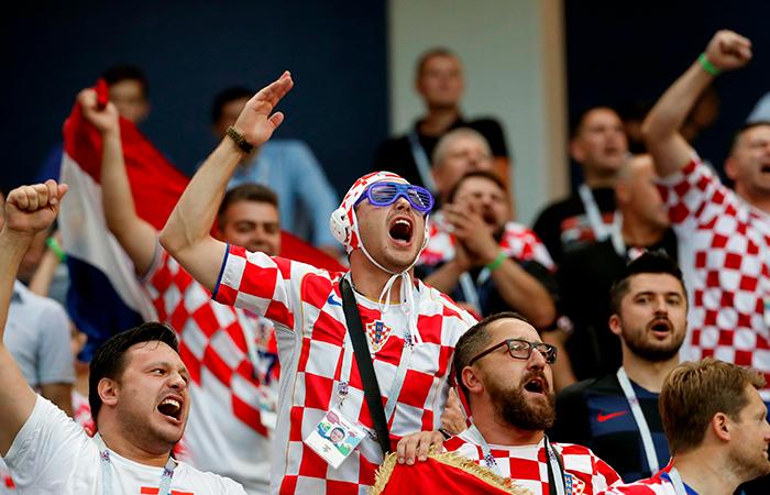 Croacia vs Dinamarca. Foto: EFE