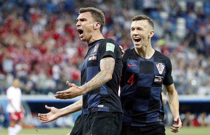 Croacia vs Rusia. Foto: EFE