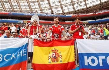 España vs Rusia: así se vive la fiesta en el estadio Luzhniki