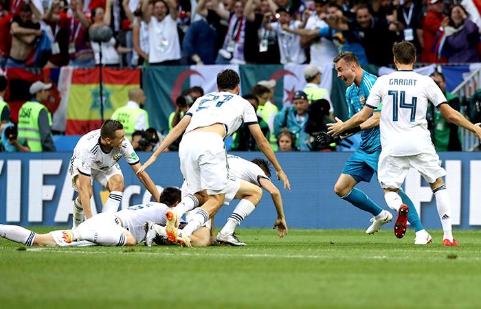 Selección de Rusia. Foto: EFE