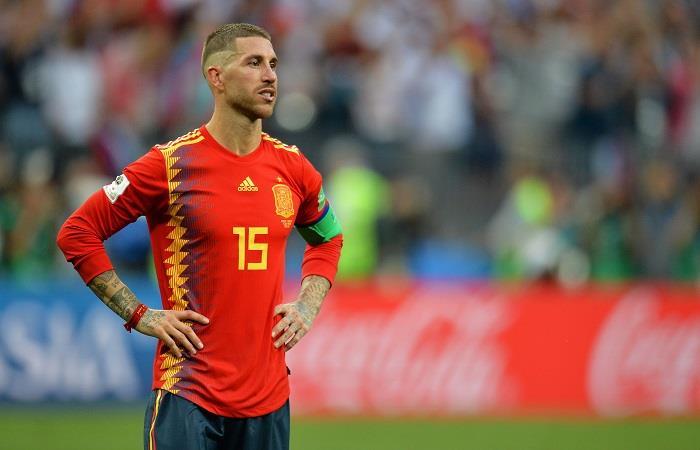 Sergio Ramos lamentó la eliminación de España. Foto: EFE