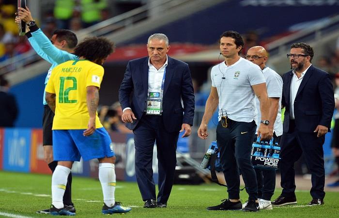 Tité confirmó al reemplazo de Marcelo (Foto:EFE)
