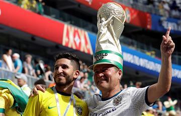Brasil vs México: así se vive la fiesta en el Samara Arena