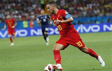 Eden Hazard protagoniza foto viral tras el Bélgica vs Japón