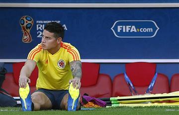 James Rodríguez es duda contra Inglaterra por los octavos del Mundial Rusia 2018