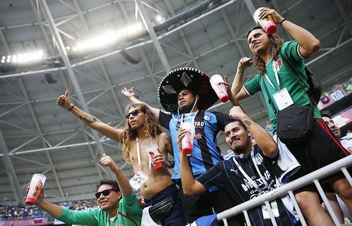 Hinchas de la Selección de México (Foto: EFE)