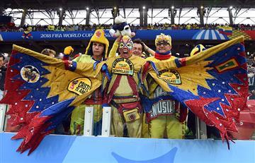 Colombia vs Inglaterra: así se vive la fiesta en las tribunas del Spartak de Moscú
