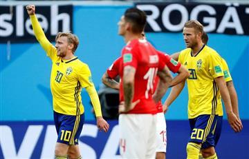 Rusia 2018: Emil Forsberg calificó de suerte su gol ante Suiza