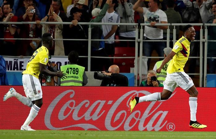 Yerry Mina marcó el 1-1 de Colombia (Foto: EFE)