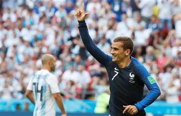 Antoine Griezmann alaba a Uruguay en la previa del partido por cuartos
