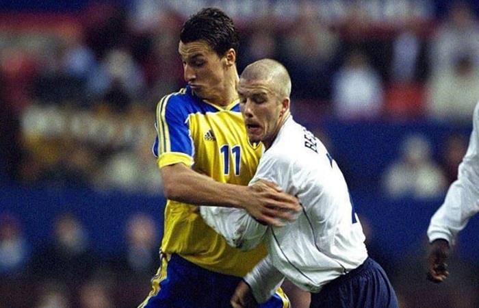 Zlatan Ibrahimovic y David Beckam en sus selecciones (Foto: Instagram)