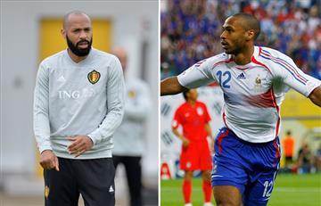 Francia vs Bélgica: Thierry Henry entre la espada y la pared