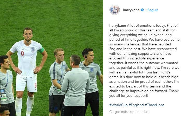 El lamento de Harry Kane con la afición inglesa