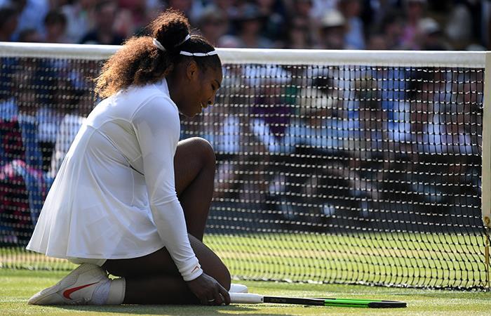Serena Williams cayó en la final de Wimbledon ante Kerber