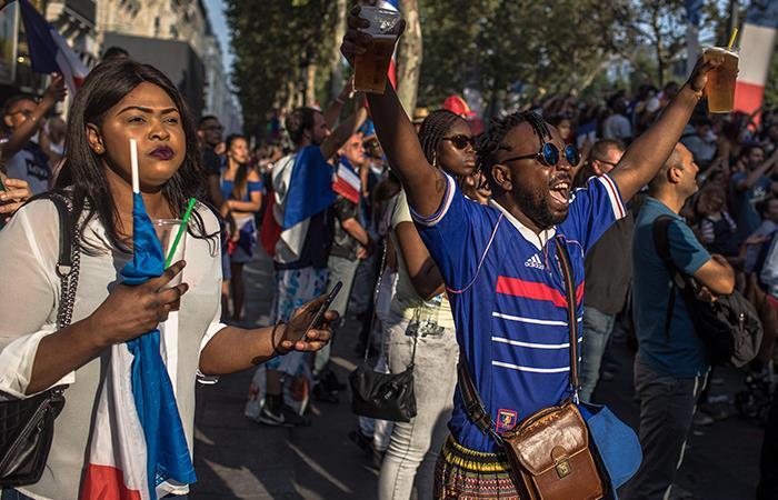 La celebración de los goles en la final hizo vibrar los sismógrafos franceses