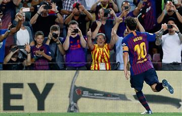 De la mano de Lionel Messi el Barcelona ganó por LaLiga