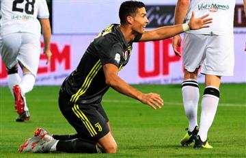Cristiano Ronaldo: Mira el nuevo blooper del portugués en Italia