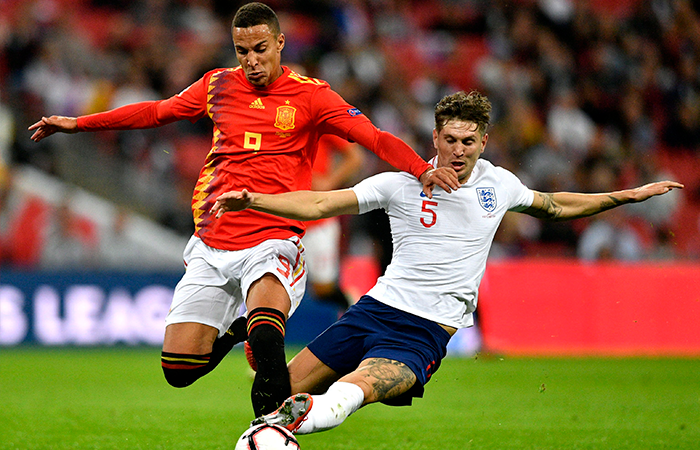 Inglaterra vs España. Foto: EFE