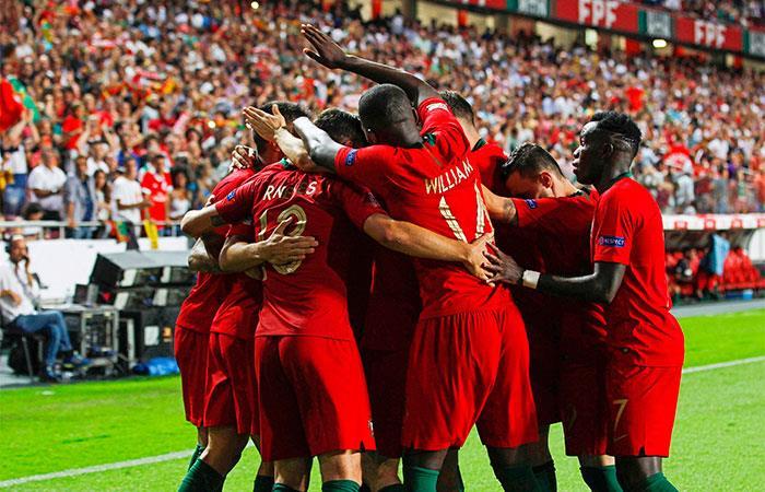 Debut con triunfo de Portugal sobre Italia. Foto: EFE
