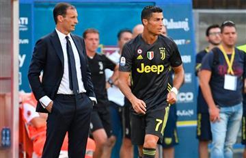Cristiano Ronaldo marcará ante Sassuolo según Allegri
