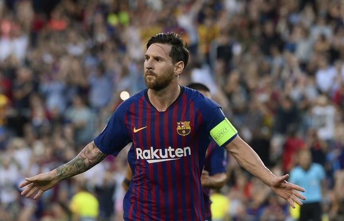 Lionel Messi regaló tres goles en el debut de Barcelona por Champions (Foto: AFP)