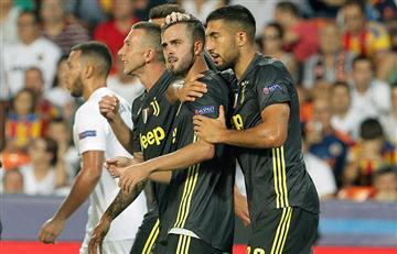 Juventus celebró en Mestalla ante Valencia