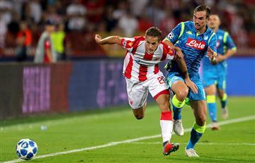 Napoli empató con el Estrella Roja