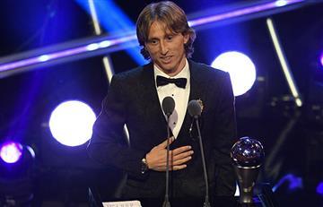 Luka Modric ganó el premio The Best